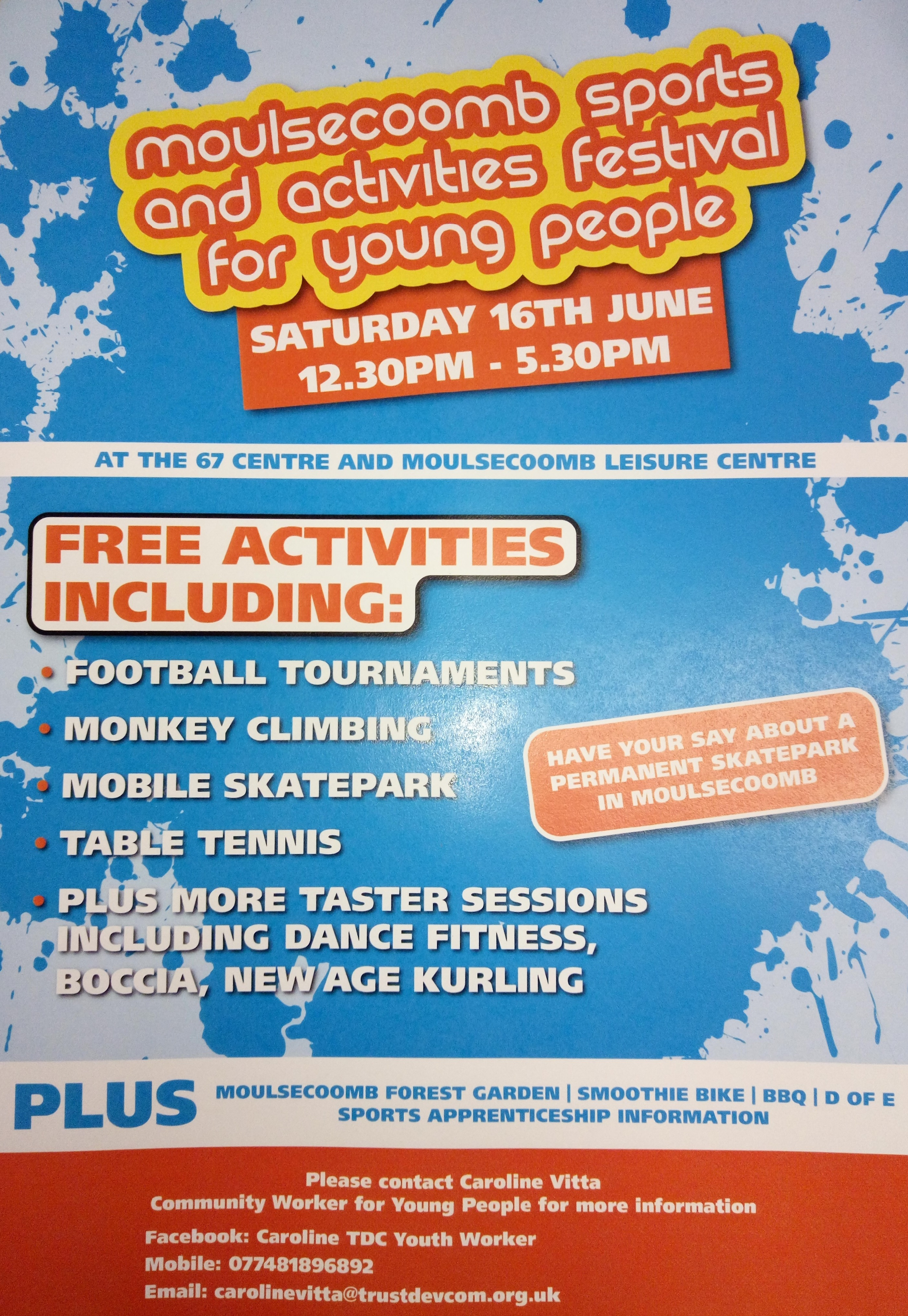 Youth sports festival Moulsecoomb TDC Community Development Brighton