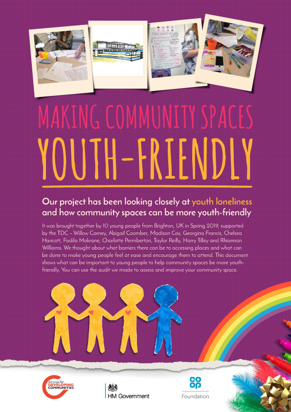 Making community spaces more youth-friendly | TDC Community Development Brighton | Youth Team