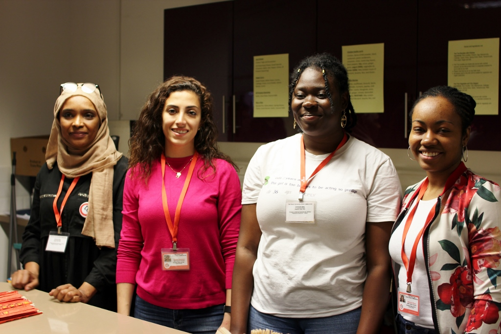 Temi (2nd from right) at our Wellbeing Fair in April
