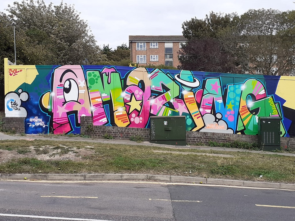 Amazing Graffiti in Whitehawk